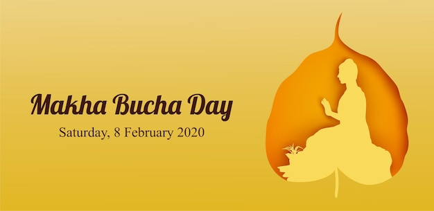 Makha bucha day, buddha delivering his teachings shortly before his death to 1,250 monks