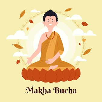 Illustrazione di makha bucha day