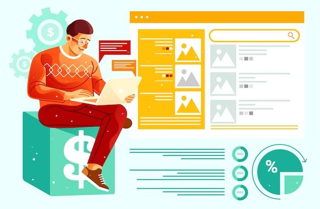 온라인 비즈니스에서 수익 창출