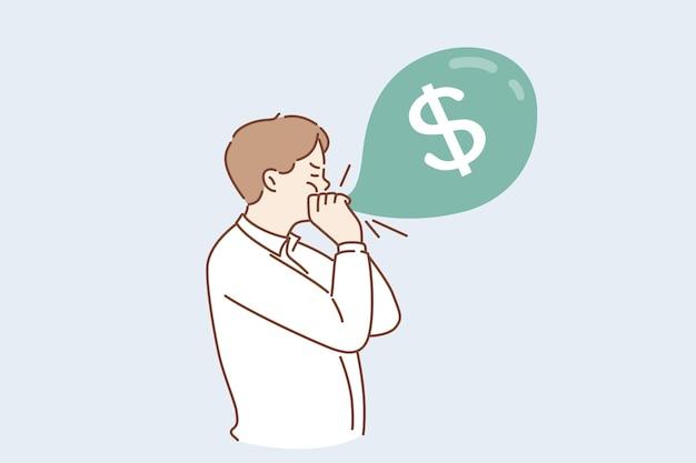 金儲けの経済的成功の概念
