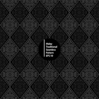 Malay monochrome seamless pattern background
