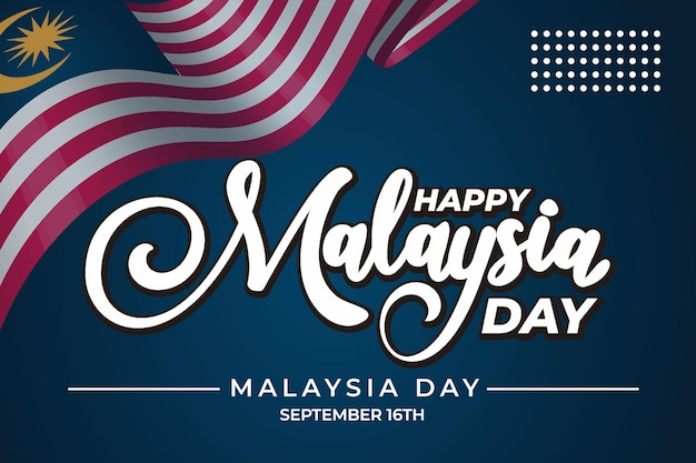День малайзии надписи с синим фоном