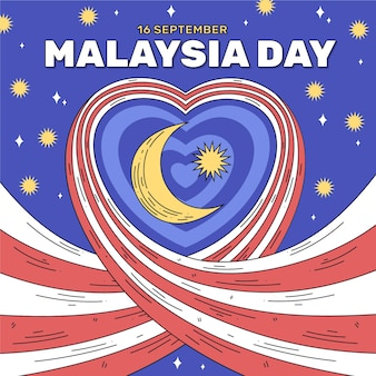 Malaysia day with heart
