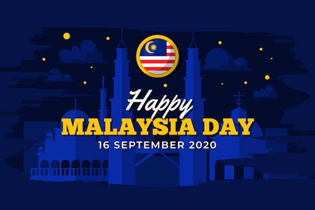 Malaysia day with night sky
