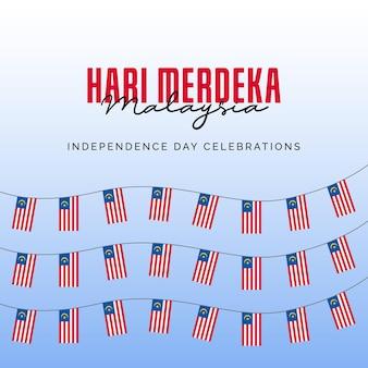 Шаблон баннеров день независимости малайзии