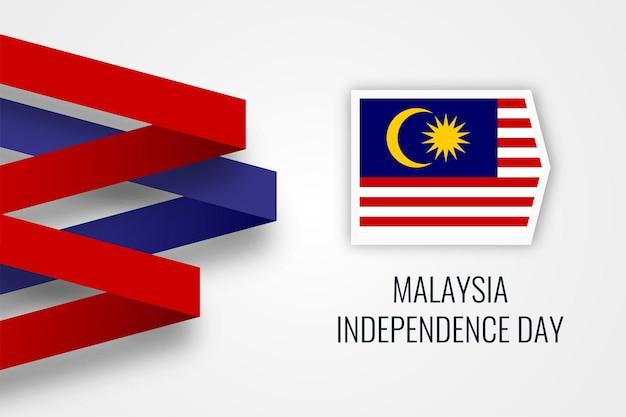 Дизайн шаблона карты празднования дня независимости малайзии