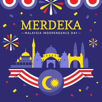 Malaysia independence day concept