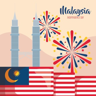 Malaysia independence lettering