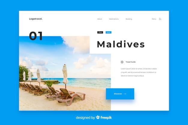 Maldives travel landing page template