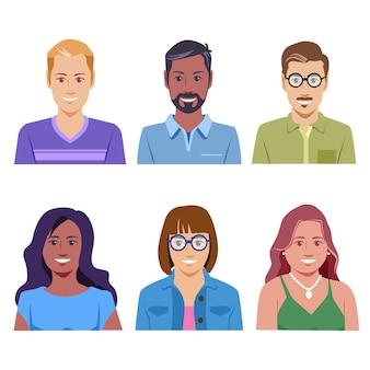 Мужские и женские аватары