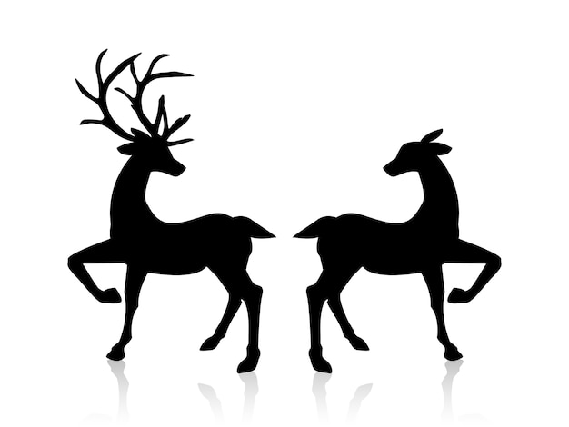 reindeer vectors photos and psd files free download rh freepik com reindeer vector art reindeer vector silhouette