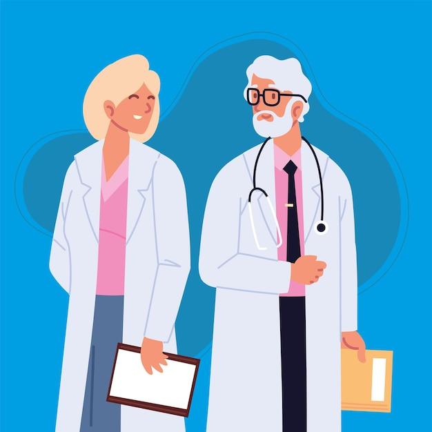 남성과 여성 의사