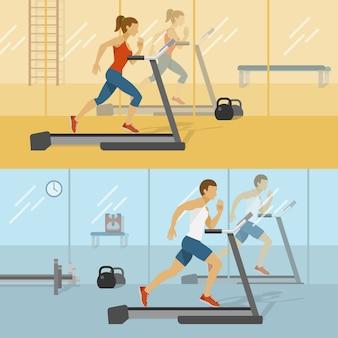 남성과 여성의 체육관 디자인