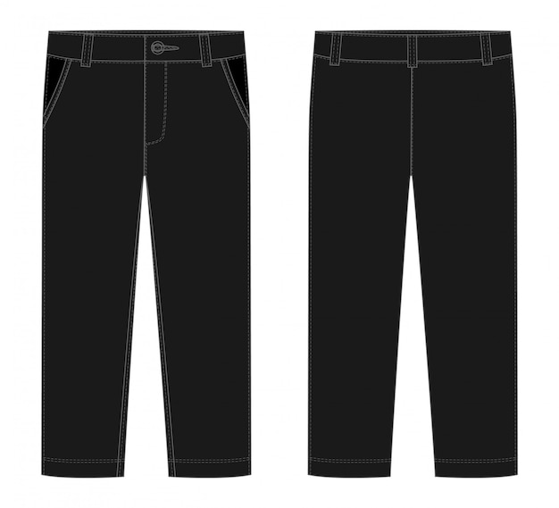 Male black pants template