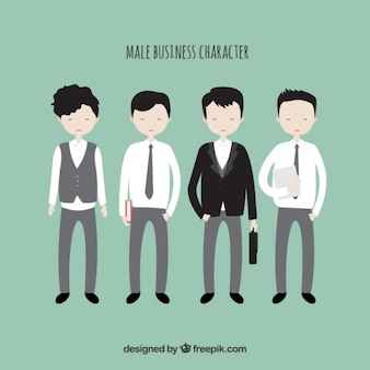 Male business characters collection Free Vector