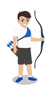 Male character  archer with bow and arrow