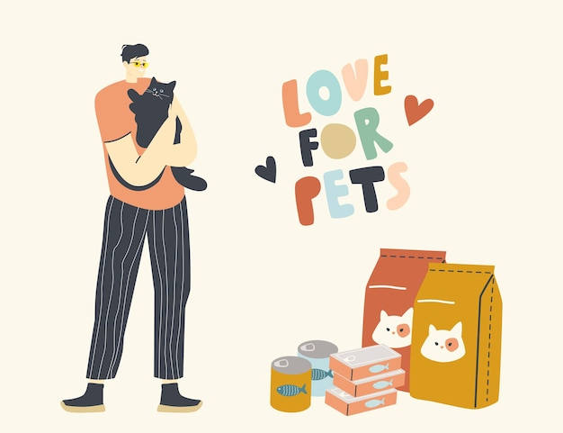 Male character care of domestic animal
