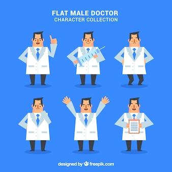 男性医者のキャラクターコレクション