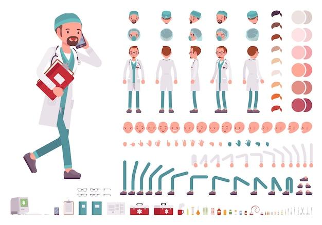 男性医師のキャラクター作成セット