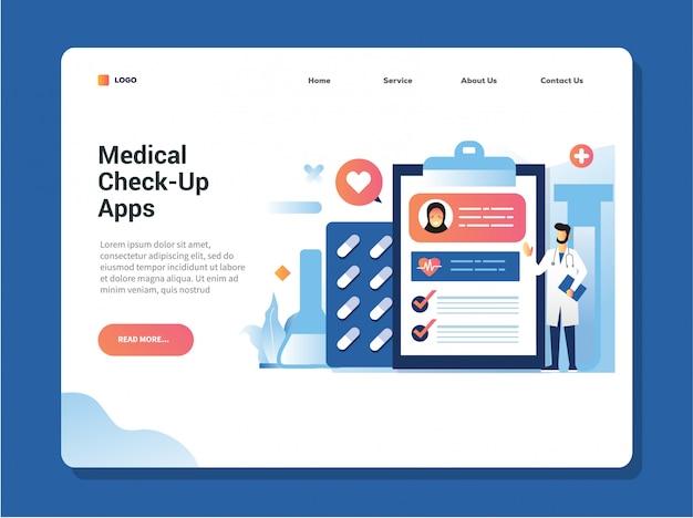 男性医師がデジタルタブレットで医療アプリを使用している患者の健康診断結果を調べて、彼らは自分の医療記録と健康をチェックしています