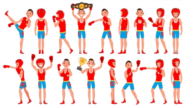 Male exercising boxing
