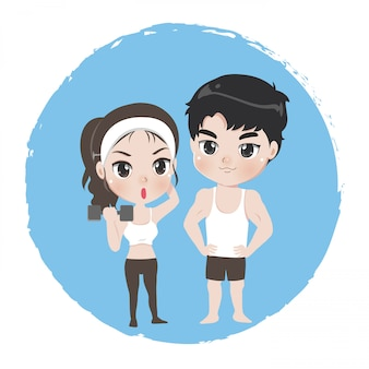 Male and female are athlete good healthy.