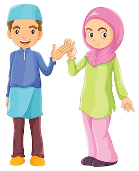 A male and a female muslim