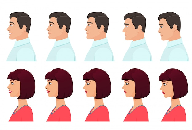 Male and female profile expressions