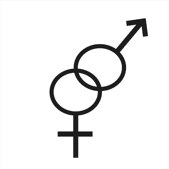 Male and female symbols on a white background vector illustration