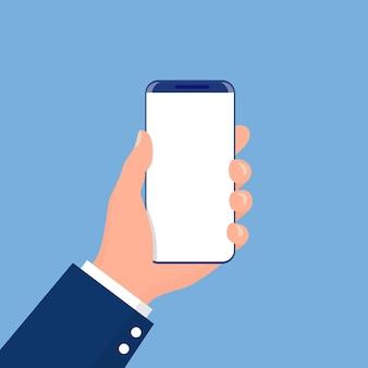 Мужская рука, держащая телефон