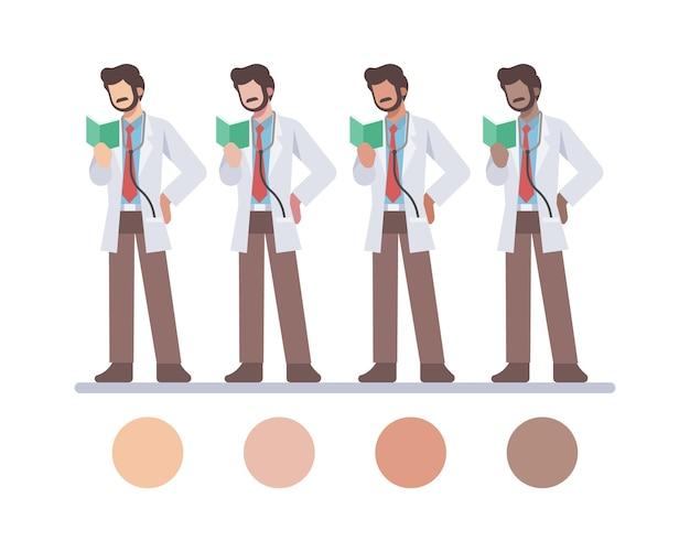 男性インド医師のキャラクター