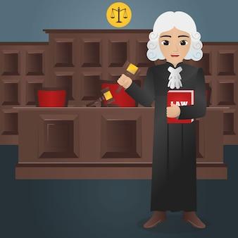 Мужской судья холдинг гавел и книга закона