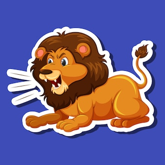 A male lion character