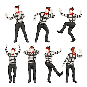 Male mime set