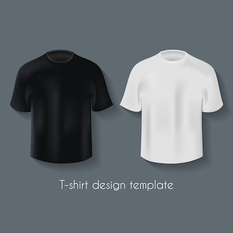 귀하의 광고 그림에 대 한 두 가지 색상으로 남성 티셔츠 디자인 템플릿 세트