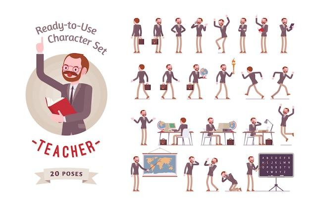 Учитель-мужчина в официальной одежде