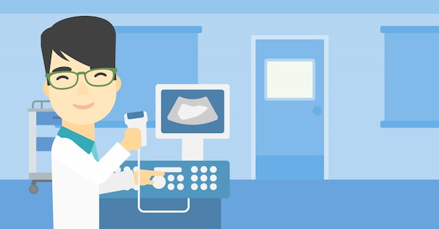 Male ultrasound doctor