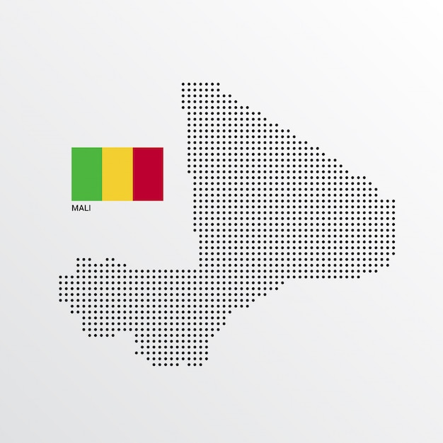 Graphics /& More J-n-Mali National Country Flag White