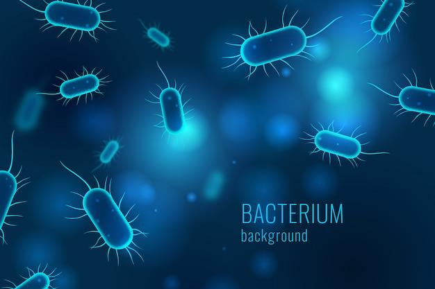 악성 박테리아 배경. 의료 개념