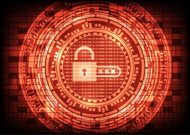 Malware ransomware virus encrypted files and show key padlock