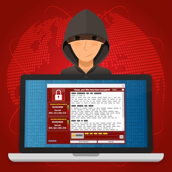 Вирус malware ransomware wannacry зашифровал ваши файлы и требует денег