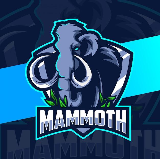 Mammoth mascot esport logo design