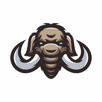 Mammoth - vector logo/icon illustration mascot