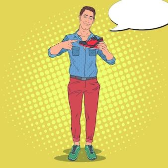 Человек, рекламирующий новую спортивную обувь