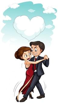 男と女が一緒に踊って