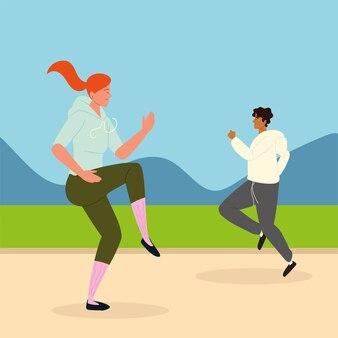 男と女のトレーニング