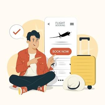 Человек, бронирующий рейс