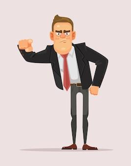 あなたに指を指している男性実業家上司サラリーマン。選択する