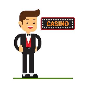 Man character avatar icon.casino