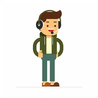 Man character avatar icon. game casser